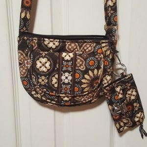 Vera Bradley cross body bag & coin purse